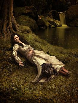 Watching over her sleep by Britta Glodde