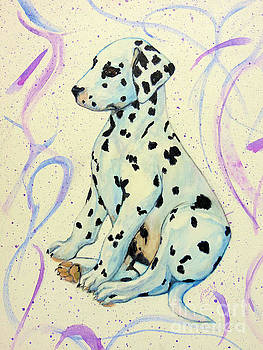 Water Color Puppy by Jacki McGovern