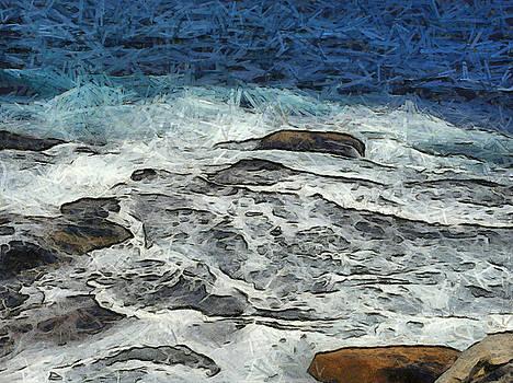 Water crashing over rocks by Ashish Agarwal