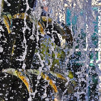 Water Fountain Blue Charleston SC by Lori Kesten