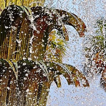Water Fountain Yellow Charleston SC by Lori Kesten