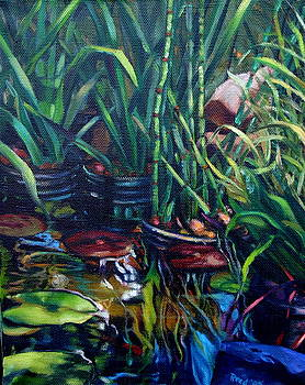 Water Garden Series-O by Patricia Reed