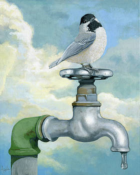 Water is Life - realistic painting by Linda Apple