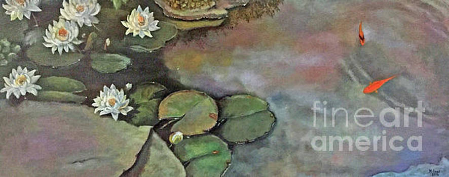 Water Lilies Late Afternoon by Marlene Book
