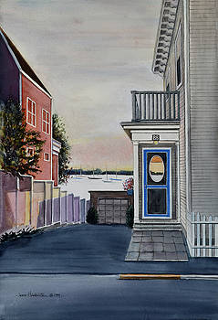 Water Street in Stonington CT by Joan Hartenstein