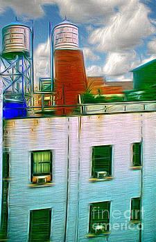 Water Tank Brooklyn NY Ver 1 by Larry Mulvehill