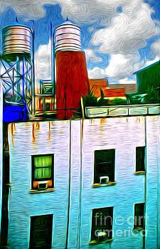 Water Tank brooklyn NY Ver 3 by Larry Mulvehill