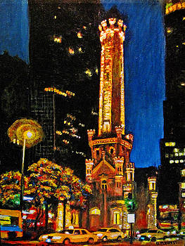 Michael Durst - Water Tower at Night