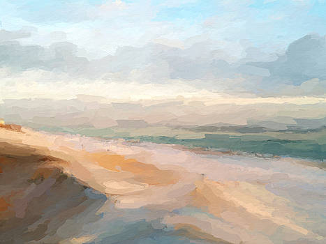 Watercolor beach abstract by Anthony Fishburne