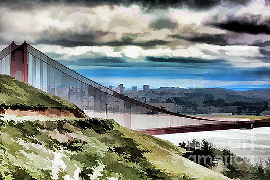 Chuck Kuhn - Watercolor Digital Golden Gate SF