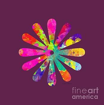 Watercolor Flower 2 - TEE SHIRT DESIGN by Debbie Portwood