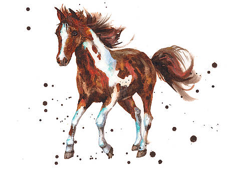Watercolor Horse painting by Alison Fennell