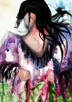 Watercolor Painting of Northern Shawl by Ayasha Loya by Ayasha Loya