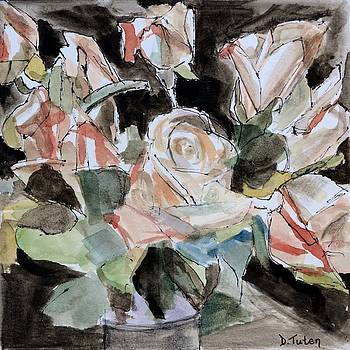 Watercolor Roses by Donna Tuten