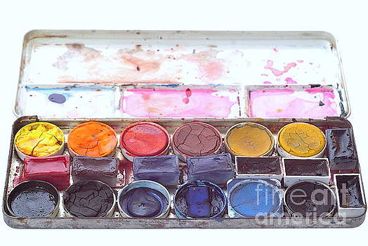 Watercolors Paintbox by Dariusz Gudowicz