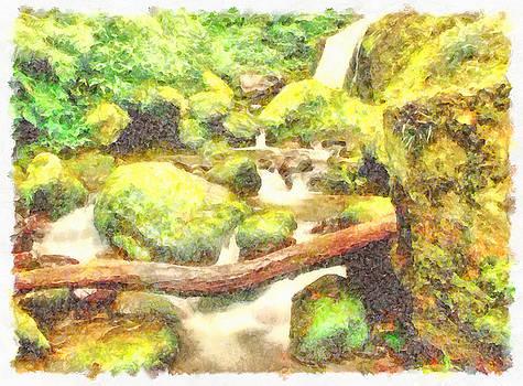 Waterfall and greenery by Ashish Agarwal
