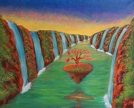Waterfall in another planet by Deyanira Harris