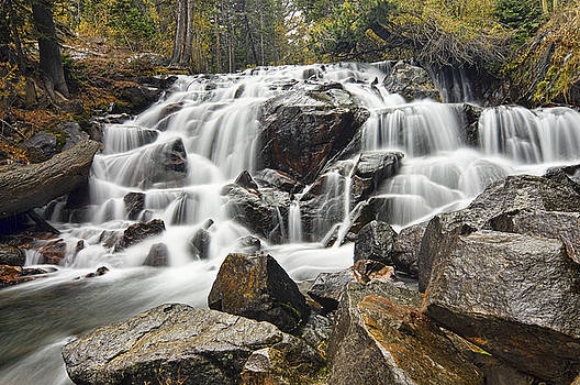 Waterfall in Lee Vining Canyon by Frank Lee Hawkins