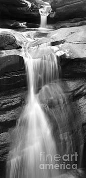 Michael Mooney - Waterfall in NH Black and White