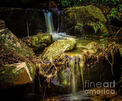 Waterfall in Twilight  by Peggy Franz