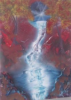 Waterfall Moon 4 by Juan Carlos Feliciano