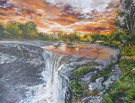 Waterfall Painting I by Valdengrave Okumu
