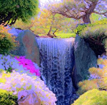 Waterfall Spring Colors by Susanna  Katherine