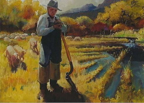 Watering the Pasture by Larry Christensen
