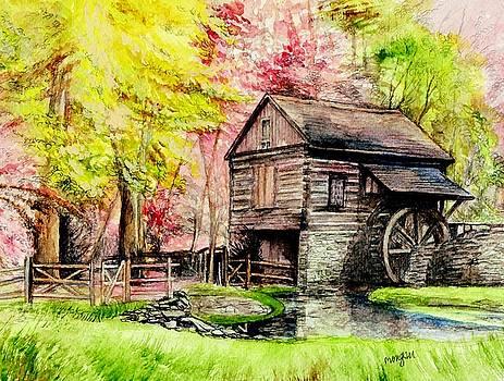Watermill at Cutalossa Pennsylvania by Morgan Fitzsimons