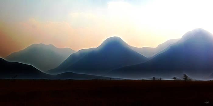 Waterton - Mountain panorama by Stuart Turnbull