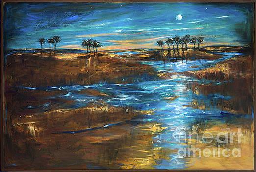 Waterway in the Moonlight by Linda Olsen