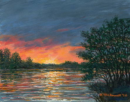 Waterway Sundown by Kathleen McDermott
