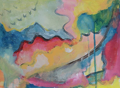 Watery Abstract by Susan Stone