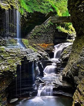 Frozen in Time Fine Art Photography - Watkins Glen Rainbow Falls