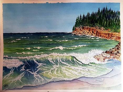 Wave and Rocks SOLD by Richard Benson