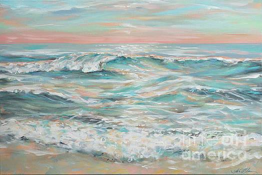 Waves at Dusk by Linda Olsen