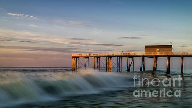 Waves at the Fishing Pier by Jerry Fornarotto