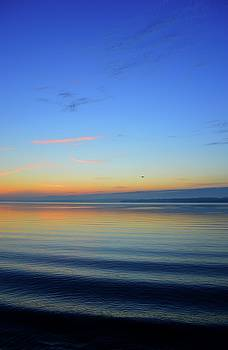 Waves On The Lake At  Dawn  Two  by Lyle Crump