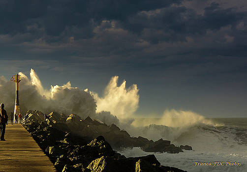 Waves under Light and Darkness  by Francoise Dugourd-Caput