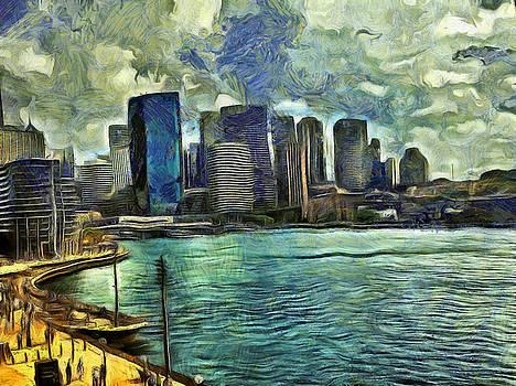 Wavy skyline of Sydney by Ashish Agarwal