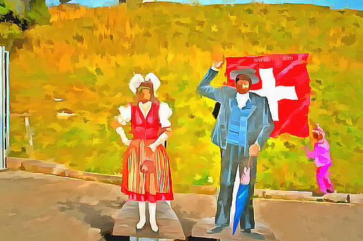 Wearing Swiss traditional costumes by Ashish Agarwal