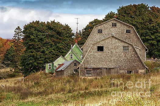 Weathered Barn by Verena Matthew