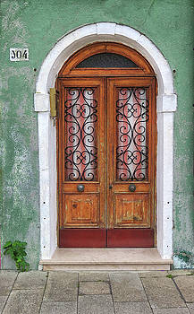 Weathered Doorway in Burano by Dave Mills