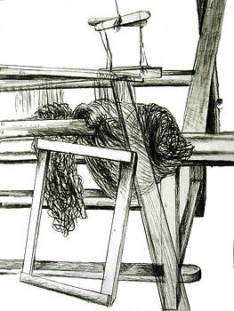 Weaving Room Chaos by Orla Cahill