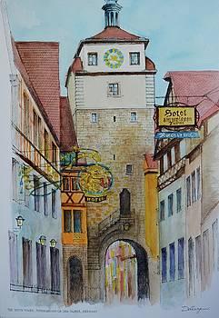 WeissenTurm The White Tower Rothenburg ob der Tauber Germany by Dai Wynn