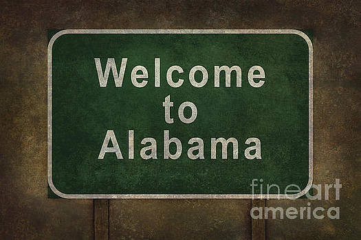 Welcome to Alabama roadside sign illustration by Bruce Stanfield