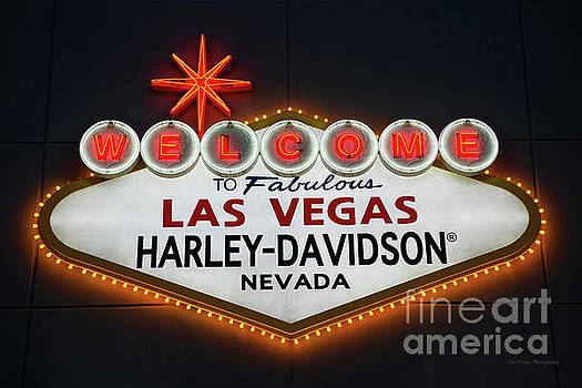 Welcome to Las Vegas Harley-Davidson Sign by Eric Evans