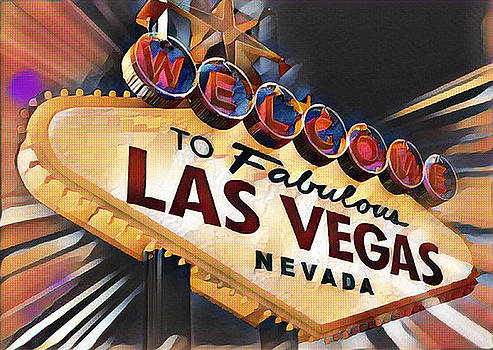 Welcome to Las Vegas Sign by Mike Rabe