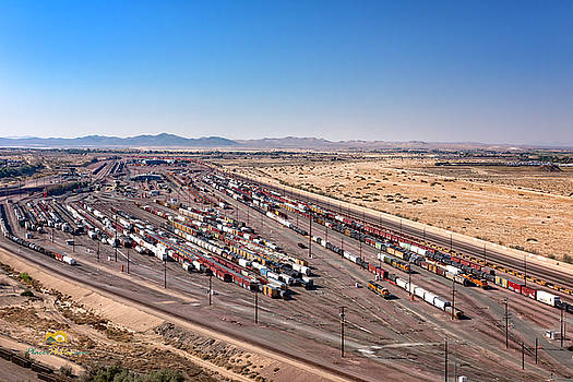 West Barstow Rail Yard From B Hill 1 by Jim Thompson