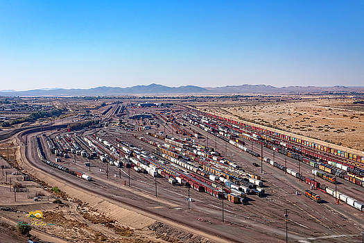 West Barstow Rail Yard From B Hill 2 by Jim Thompson